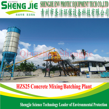 Cheap Mini HZS25 Ready Mix Concrete Batch Plant For Sale