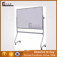 School & office supplier movable sliding white board with wheels