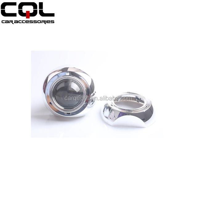 CQL retrofit headlamp 3 inch Iris/Tiguan bi-xenon hid projector lens shroud