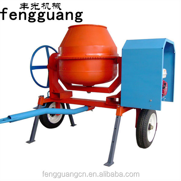 Fb 450l industrial portable diesel motor concrete mixer for Cement mixer motor for sale