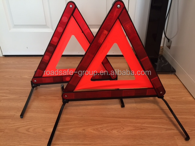 China supplier highway parking red car safety triangle warning sign