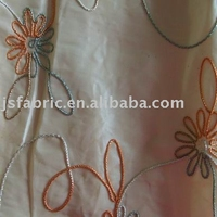 Home Textile Designed Curtain Decoration Rope Embroidery Fabric