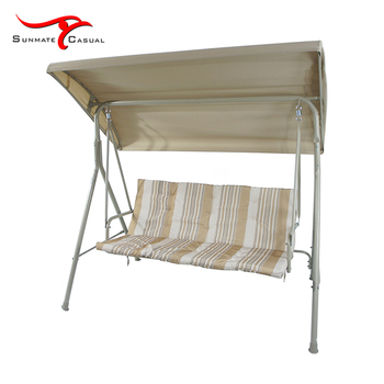 4-seat Garden Furniture Outdoor Balcony Patio Double Hanging Swing Chair