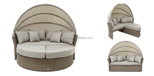 Outdoor hot sale good quality half round rattan daybed
