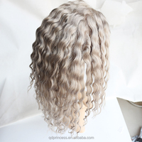 Factory Price Virgin Brazilian Remy Human Hair Grey Wig Brazilian Deep Curl Hair Lace Front Wig