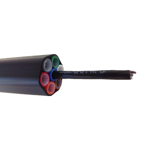 outdoor micro air blown fiber optic cable for duct