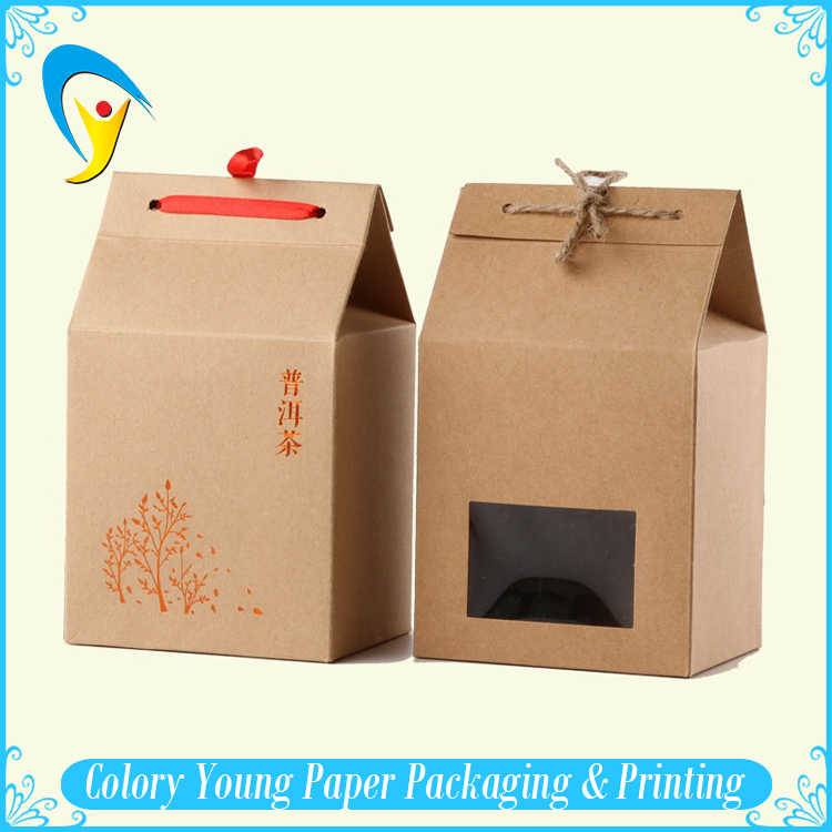 Wholesale Kraft Window Paper Box / Brown Kraft Paper Food Packaging