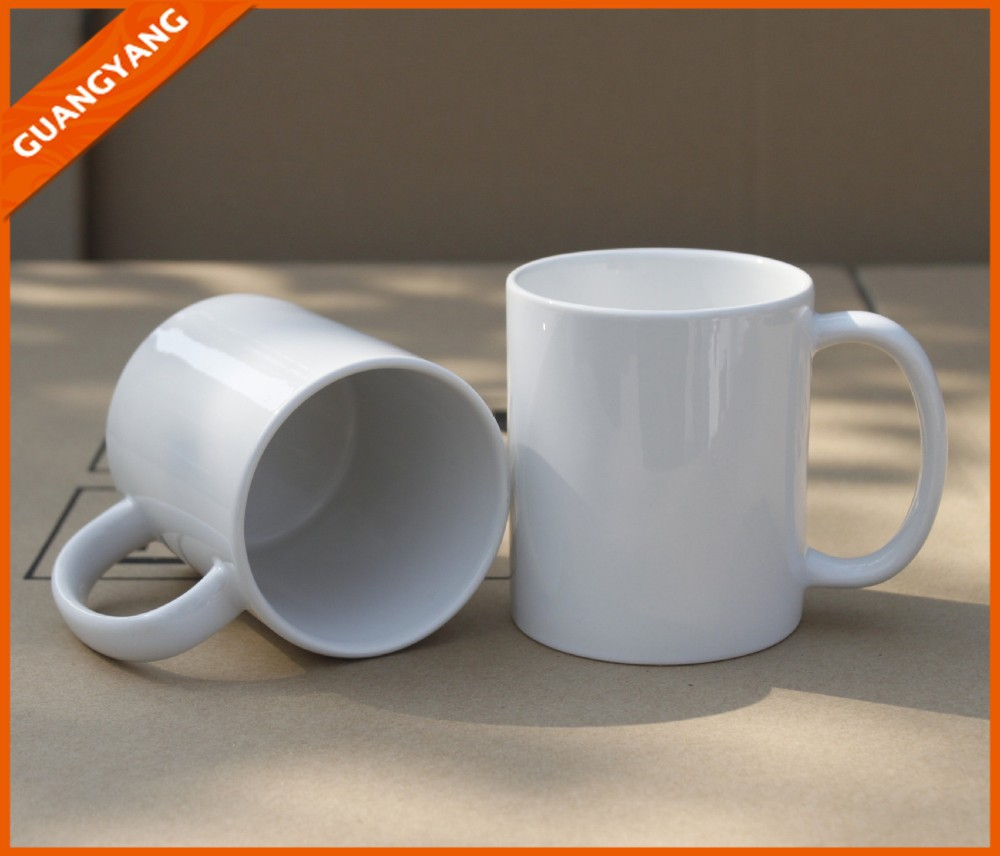 Wholesale 11oz White Ceramic Sublimation Blank Mug