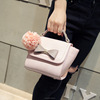 2016 korea bag flower pendant bowknot hand bags for women pu leather 2016(SWTJU1652)
