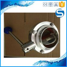 Design professional ss manual sanitary butterfly valve