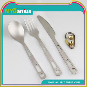 Eco-friendly Three Pieces Titanium Cutlery
