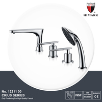 High Corrosion protection 4-hole shampoo basin faucet