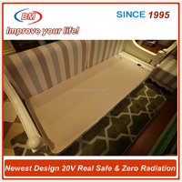 China supplier green light luxury 20V heating machine washable warm fleece electric blanket