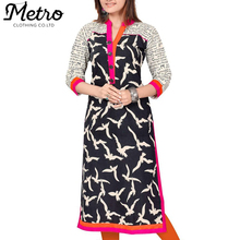 Top design embroidery ladies casual kurta designs for women