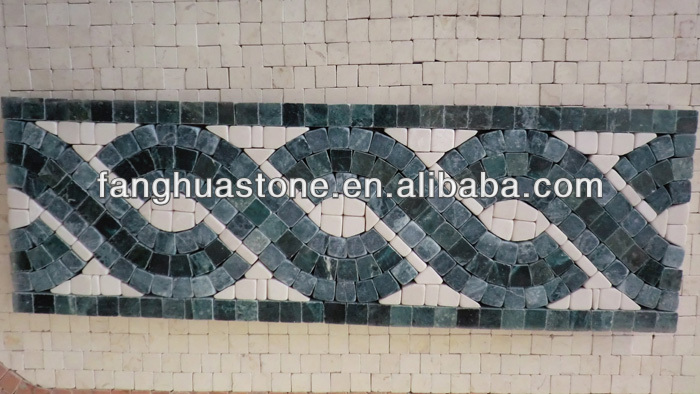 Marble mosaic series listello border tile