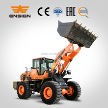 Manufacturer 4t wheel loader ENSIGN YX646 with Shangchai 125 KW engine and 5 t transmission for loading heavier.