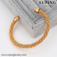 51459- 2016 Xuping Copper Sex Bangle Fashion Adjustable Twist Cuff Bangles