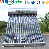 Stainless steel tank and frame solar hot water prices is economic for daily life