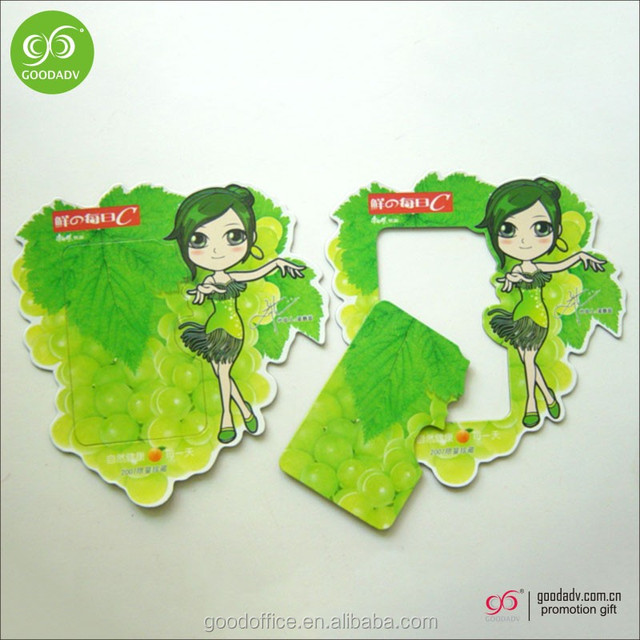 Custom fashionable decoration paper printed fridge magnetic photo frames
