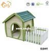 Decorative wood balcony dog house factory