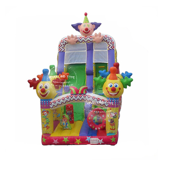 NEVERLAND TOYS inflatable clown slide novel design bouncy castle for kids both indoor and outdoor for sale
