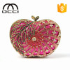 high quality apple shape evening bags for women party crystal clutch bags made in china TY843