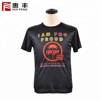 50 Polyester Cheap Custom Logo Black Promotion Full Print Shirt 120 G