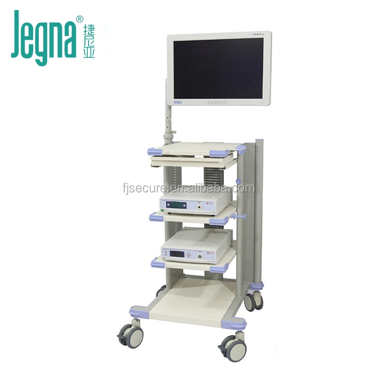 Medical endoscope equipment cart with silent casters