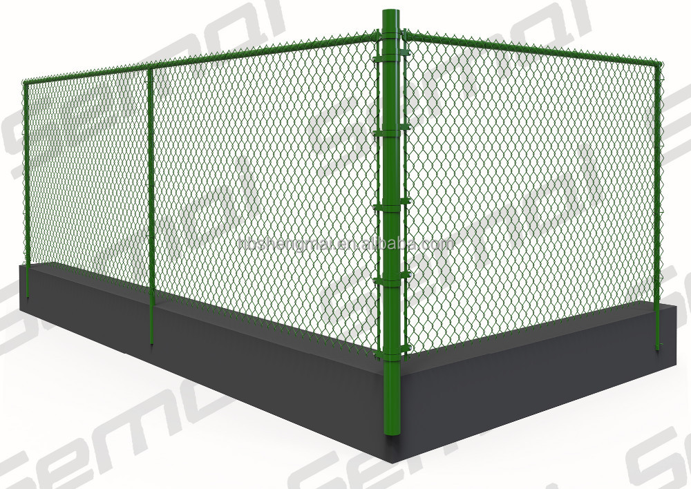 2016 alibaba come PVC Coated Galvanized Chain Link Wire Mesh Fence Panel