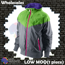 Wholsales winrunner WB005 Light Green and Light Grey matching color Jacket