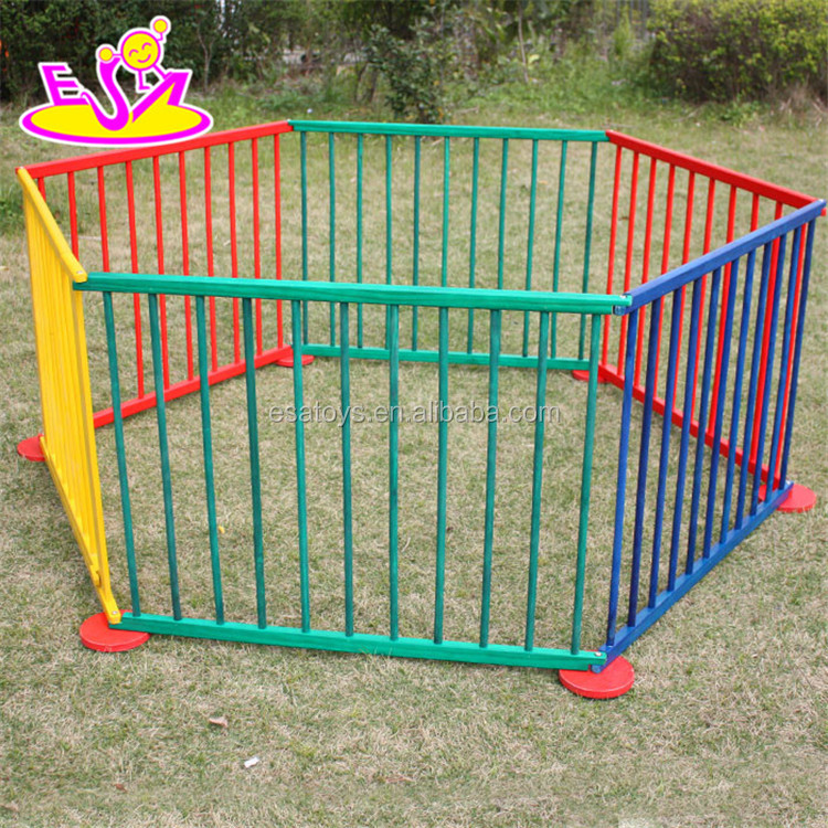 2017 New outlets wooden outside folding baby playpen,Round or Square luxury baby playpen,High quality baby safety fence W08H006
