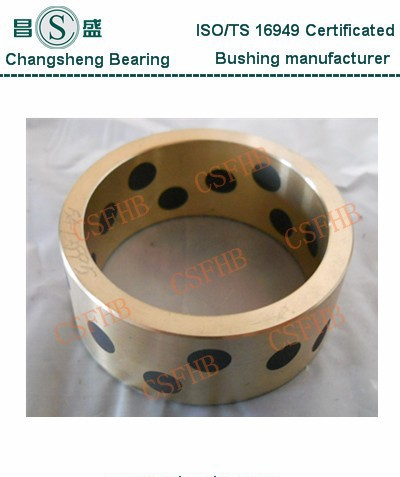 Cast bronze backed sliding bearings for casting machine