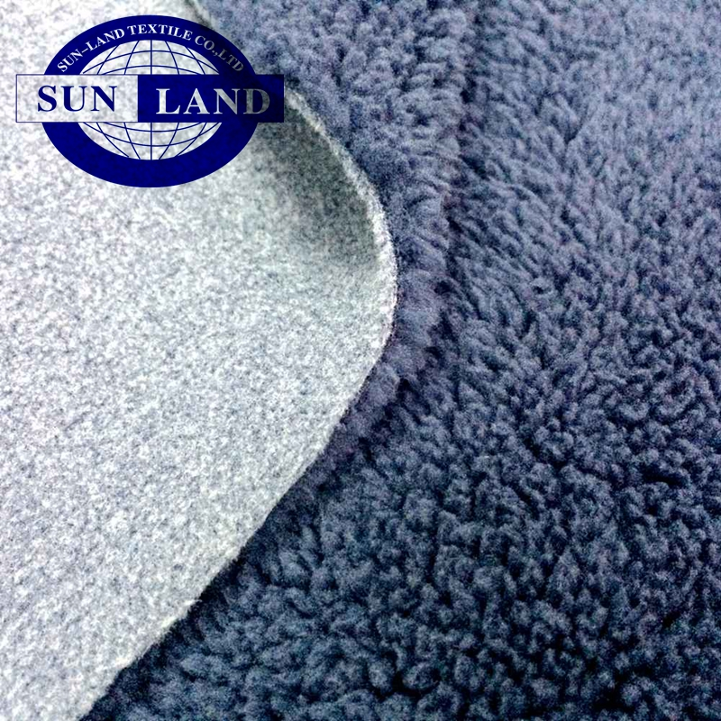 china manufacturer make to orders winter sports thermal jacket 100% polyester interlock bonded polar fleece fabric