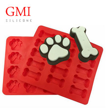 Funny Dog Paws Bones Cake Pan Baking Molds for Kids Pets Dog-lovers Cookie Treats 100% Food Grade Silicone