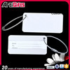 Made in china factory free lasered name metal luggage tag