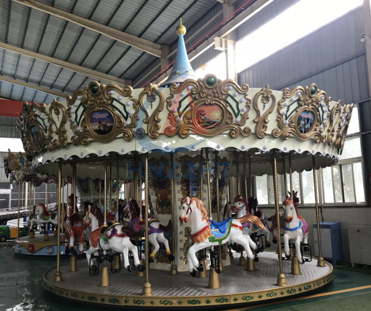 china amusement attractions carousel  amusement mobile carousel ride for sale