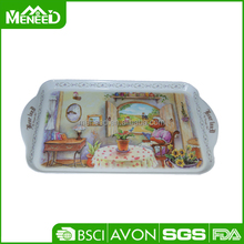Cartoon printed melamine cased confectionery trays for house deco