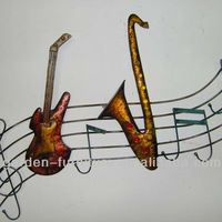 Handicrafts Wrought Iron Guitar Music Notes