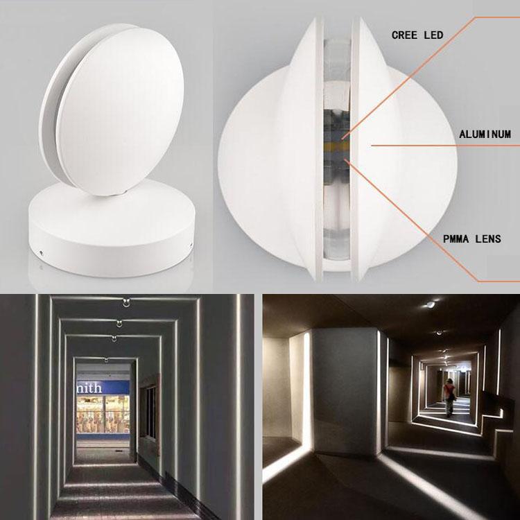 nuevo diseo de aluminio led lmpara de pared nica