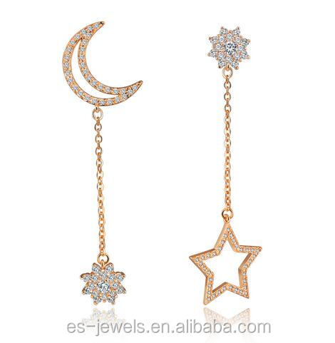 Fashion earring designs new model anti allergy star earrings factory China