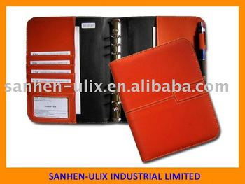 A5 size portfolio with metal ring binder