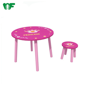 Wholesale wood modern dining table chair for kids with one stool