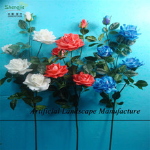 SJZR12 Dry flower , artificial single rose flower whosale in guangzhou