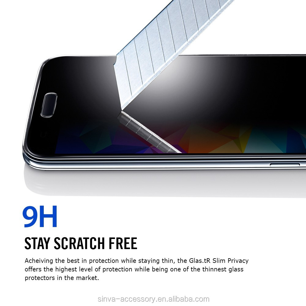For Samsung Galaxy S6 edge tempered glass screen protector 2.5D Curved design Glass protector with Plastic package