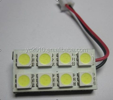 T10 Ba9s Festoon 8SMD 5050 Auto Light PCB, Auto LED Room/Roof Lamp/Car Dome Light