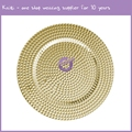 PZ00640 custom handmade wholesale dots design glass charger plates for wedding
