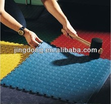 Blue Rubber Studded Floor Tile
