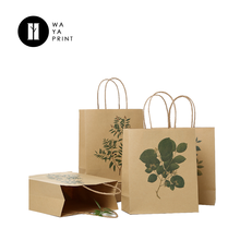 China supplier hot sale brown kraft grocery paper bag with twisted handle