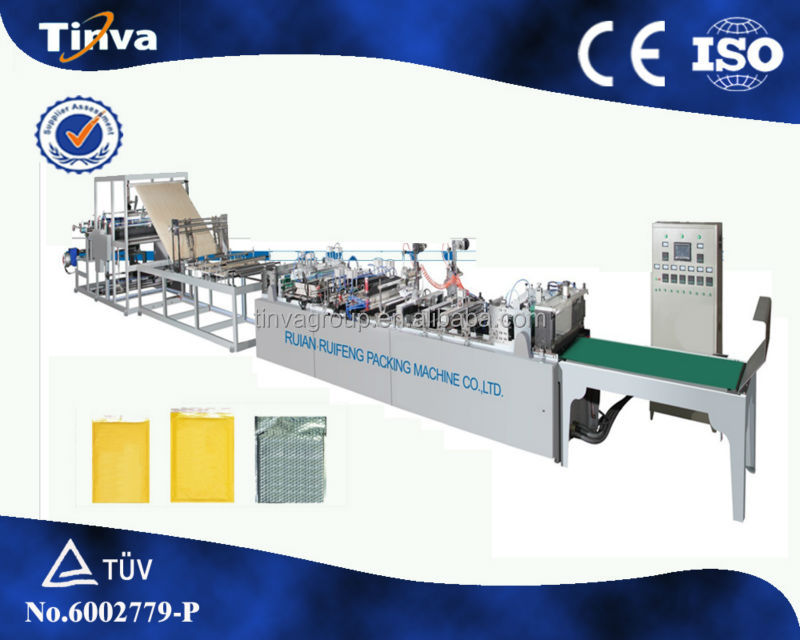 China Wenzhou Ruian High Speed Automatic Two Side Seal OPP Poly air Bubble Wrap Bag Making Machine