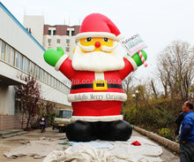 santa outhouse christmas inflatable decoration
